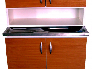 Шкаф мивка с горен ред
